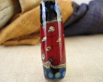 Lampwork Glass Bead - Sangre Barrel (001-29W4)