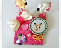 PIN square Bambi in pink