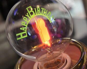 Royal Pot Collection | Handmade porcelain, add the Happy Birthday Light Bulb / Edison Light Bulb | 1-Year Warranty (Light Bulb not applied)