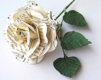 Sheet Music Rose - Music Rose - Paper Flower