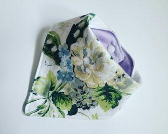 Vintage floral baby dribble bib.