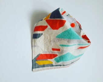 Retro/arty pattern baby dribble bib.