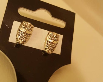 Sutd Earrings-Owls-Silver Plated