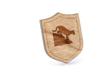Cougar Lapel Pin, Wooden Pin, Wooden Lapel, Gift For Him or Her, Wedding Gifts, Groomsman Gifts, and Personalized