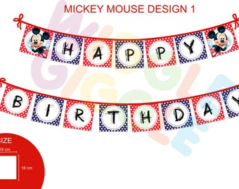 Mickey Mouse Bunting Flag