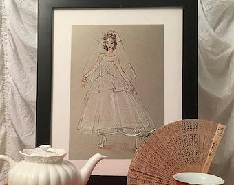 Custom Fashion Illustration - Gray paper