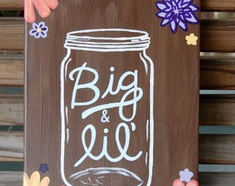 Mason jar canvas
