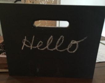 Chalkboard Wood Sign, Hanging Chalkboard Sign, Standing Chalkboard Sign, Rustic Sign