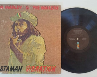 Bob Marley and The Wailers  Vinyl Record Rastaman Vibration. Island Records. 1976. Reggae Music. Vintage Vinyl. Record Shop. Jamaican.