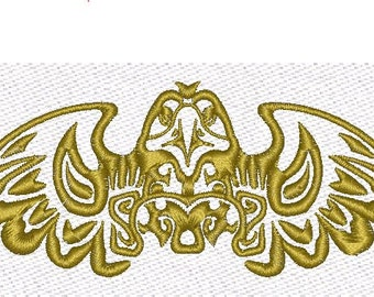 Eagle Indians Machine Embroidery Design