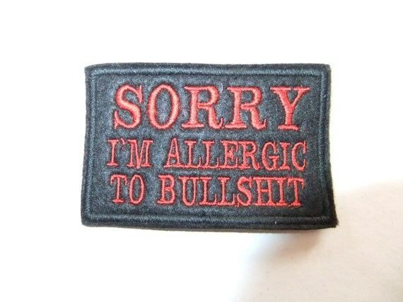Sorry funny motorcycle patch biker club team embroidered