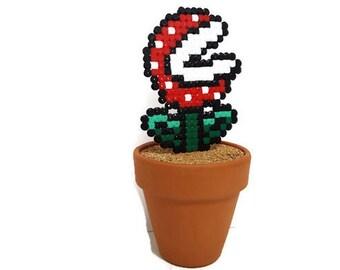 Figurine Super Mario Piranha Plant [Pixel Art Hama beads]