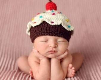 Crochet cupcake hat.