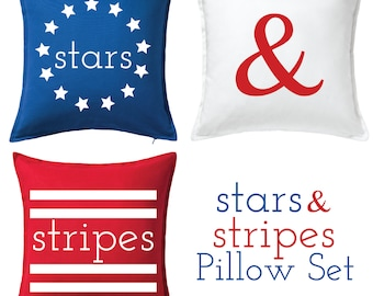Stars and Stripes Pillow Cover Set