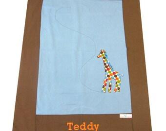 Organic Baby Blanket with Giraffe
