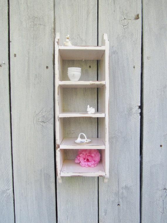 Shabby Chic Pink Shelf Cottage Chic Pale Pink Display Shelf