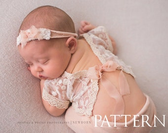 NEWBORN PROP PATTERN - Newborn Sewing Pattern - Lydia 2-Piece Outfit//Newborn Photography Prop