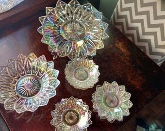 Beautiful 12 Piece Vintage Opalescence Set