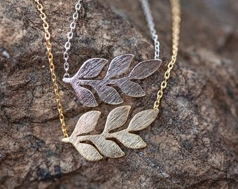 Gold Leaf Necklace, Silver Leaf Necklace, Leaf Necklace, Little Leaf Necklace,
