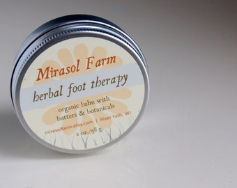 Organic Herbal Foot Therapy. Foot massage salve. 8 oz