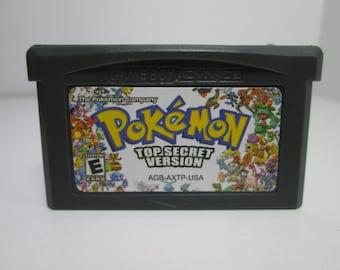Pokemon Top Secret fan made hack GBA Gameboy Advance