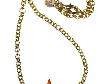 STARLETTE - star necklace resin multi color golden chain
