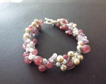 Antique Pearl Purple Bracelet