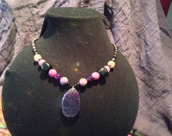 Dragon's Vein Agate Necklace