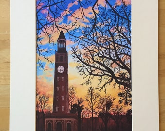 UNC Bell Tower Print