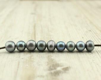 Black pearl beads, loose pearls, freshwater pearls, pearl necklace, pearl bracelet, gemstone beads, 10 beads per sale, wholesale, Z 105