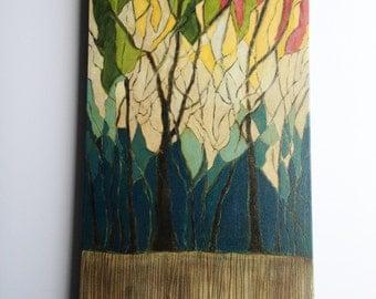 Original Oil Painting/ trees/ landscape/ contemporary art/ wall art/ home decor/ art/ painting