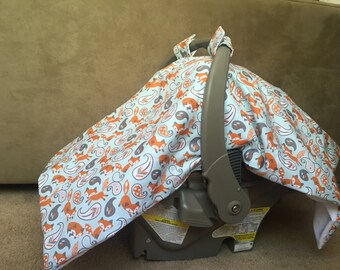 Baby boy car seat cover