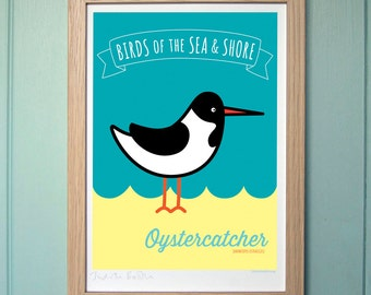 A4 Digital Print for Kids - Oystercatcher