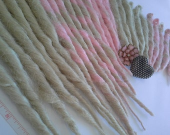 Ready to Ship Accent Kit, 30 SE Dreadlocks, Pink and Blonde, 6-12 Inches
