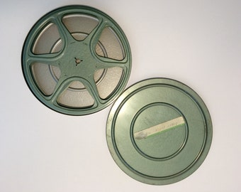 8mm Film Reel and Tin - 7 Inch