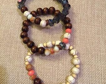 """The """"Anna"""" stack bracelets"""