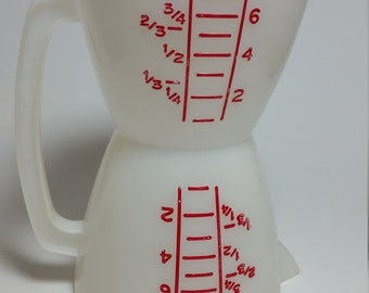 Vintage Tupperware Double Measuring Cup Wet/Dry 1Cup Dry 8oz. Wet