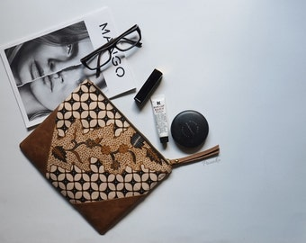 Batik Leather Clutch Bag