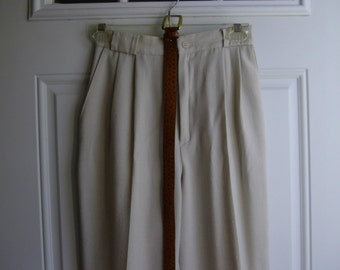 Light Tan Linen-Look Pants by Fundamental Things, Petite Size 4