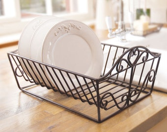 Plate Drainer, Plate Rack, Black Drainer, Heart Dish Rack