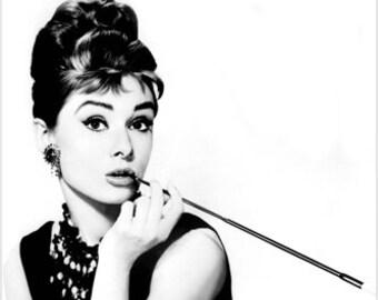 Audrey Hepburn Breakfast At Tiffanys Publicity Still Poster Charming 24x36
