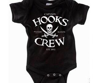 Disney Baby Shirt  Captain Hooks Crew Shirt Peter Pan Shirt Captain Hook ShirtDisneyland Shirt Disney World Shirt  Magic Kingdom Shirt
