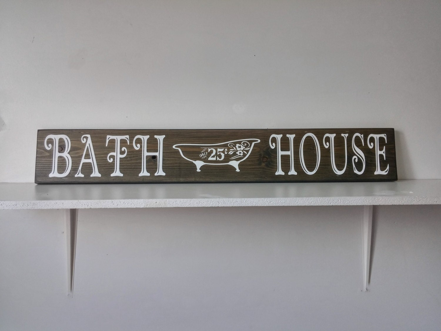 rustic bath house sign bathroom wall decor by porchhousedecor