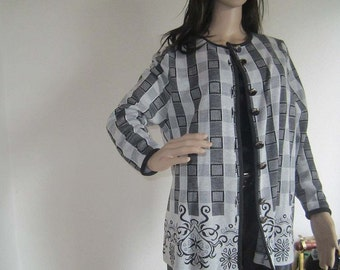 Vintage 60s Wool Cardigan Sweater creation Studio GS