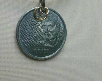 Brazilian coin pendant