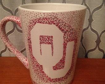 OU hand painted coffee mug