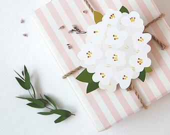 Cute card set, postcard, birthday card, flower card