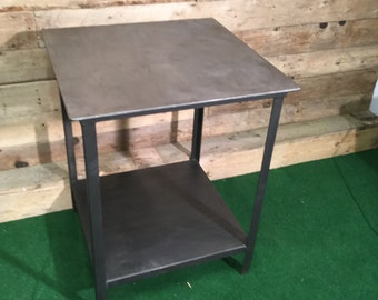 Industrial Polished Steel Table