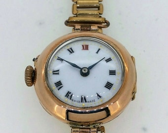 Gold Swiss Trench watch