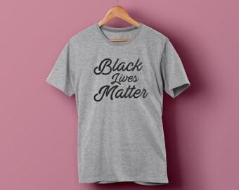Black Lives Matter Shirt script logo - #blacklivesmatter T-shirt